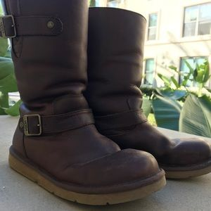 UGG Leather Boots with Buckles - Size 7